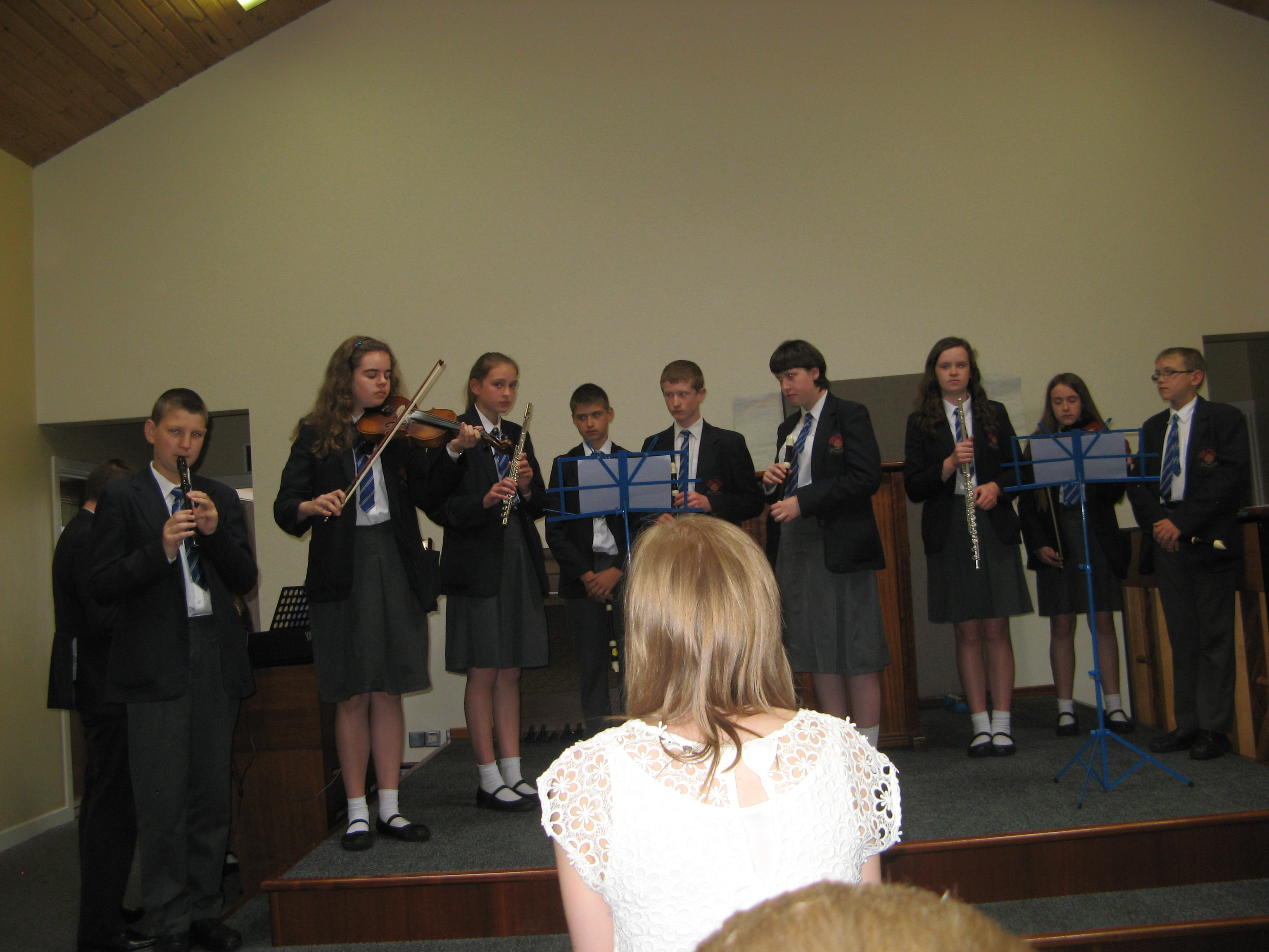 KS3 performing their own composition