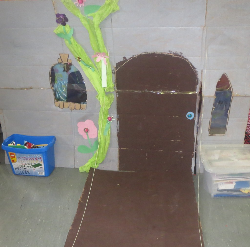 Our Castle, with a working drawbridge and stained 'glass' windows
