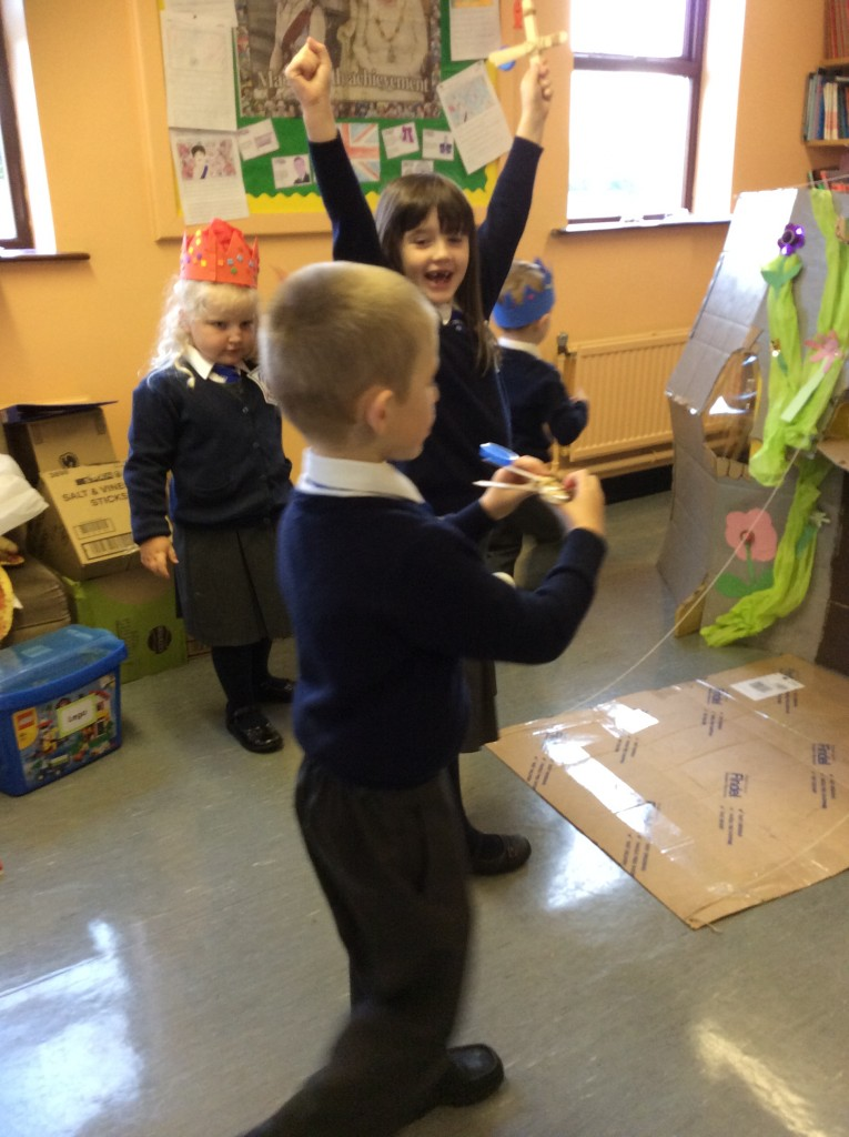 We made and used catapults to attack the castle