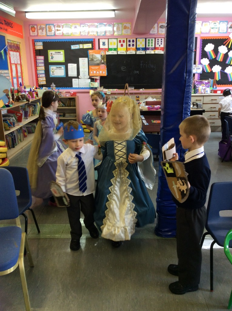 We used our crafted shields and crowns in role play