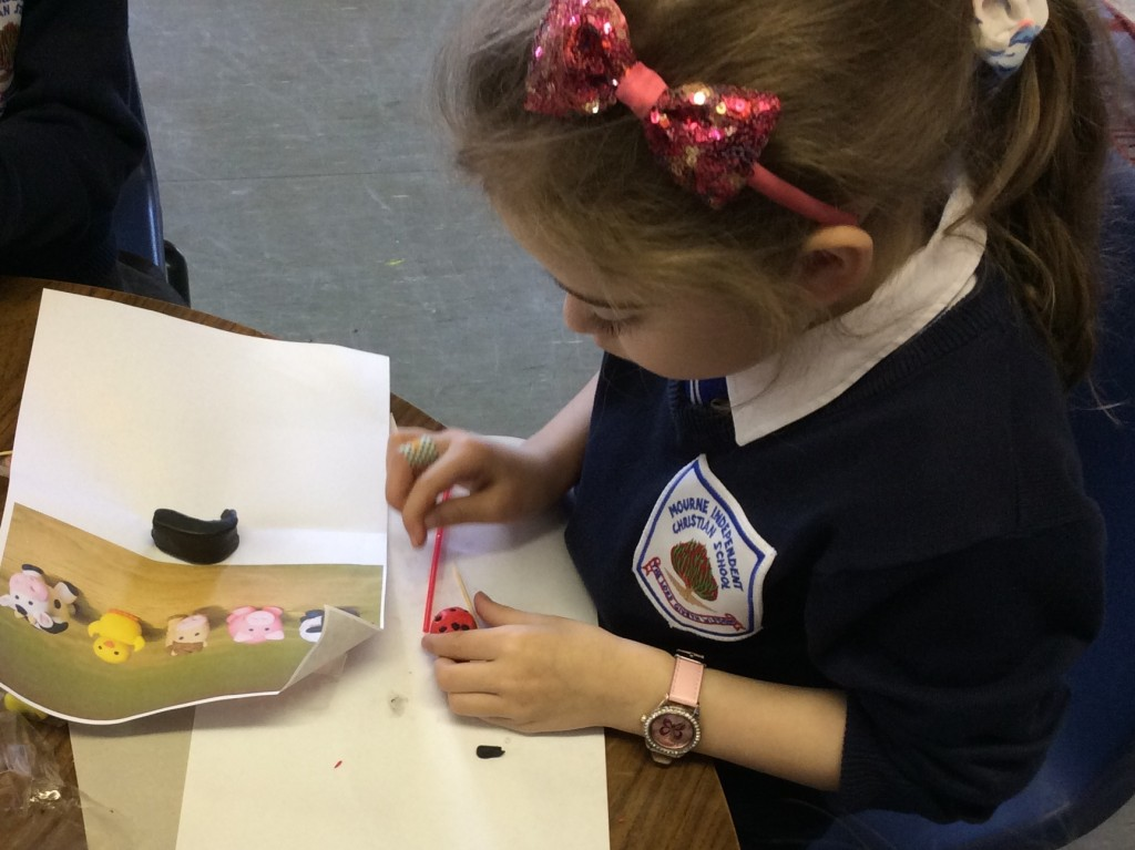 Crafting a ladybird carefully