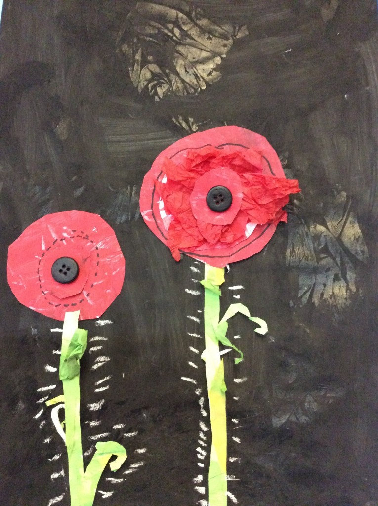 Yr1-4 made multimedia poppy pictures