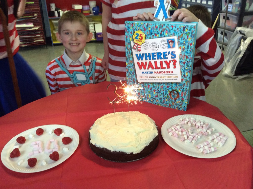 We had a 30th birthday cake for Wally!