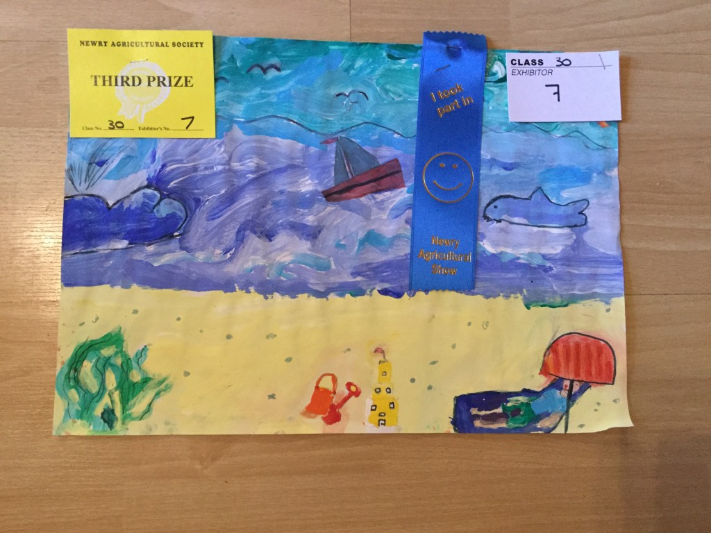 Third Prize in Year 6 Imaginative Colour Work