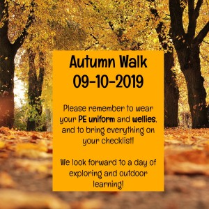 Autumn Walk Reminder
