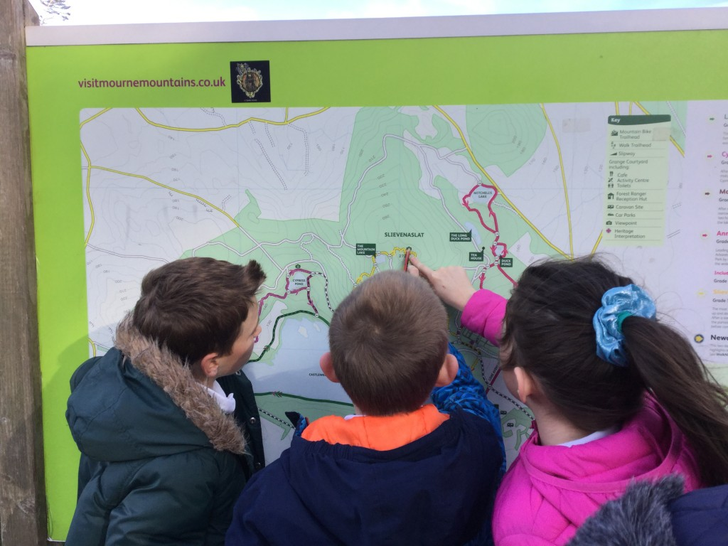 Reading an OS map to discover the height of Slievenaslat [another number for our safe's code!]
