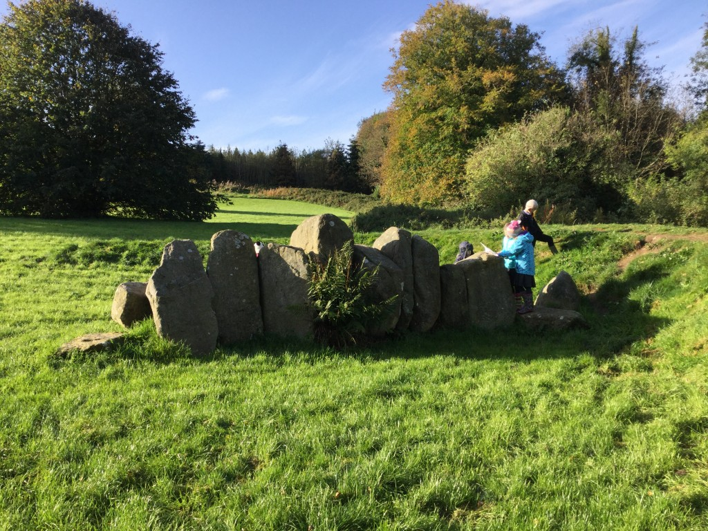 Counting the number of stones to find out one of the co-ordinates for the location of the secret hideaway!